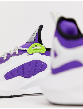 Reebok Running Sole Fury In White And Purple by Reebok