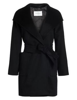 Rialto Icon Camel Hair Wool Hooded Wrap Coat by Max Mara
