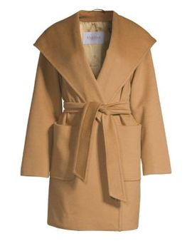 Rialto Hooded Wool Wrap Jacket by Max Mara