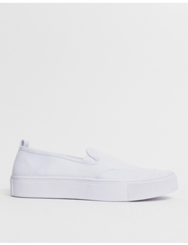 Asos Design Dexter Slip On Plimsolls In White by Asos Design