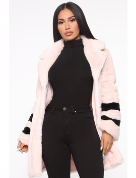 Crazy Fur You Faux Fur Coat   Mauve/Combo by Fashion Nova