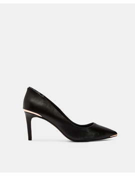 Pointed Toe Leather Court Shoes by Ted Baker