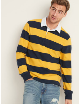 Bold Stripe Long Sleeve Rugby For Men by Old Navy