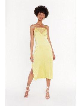 Slip On Through Satin Slip Dress by Nasty Gal