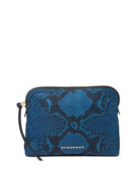 Snake Skin Print Pouch by Burberry