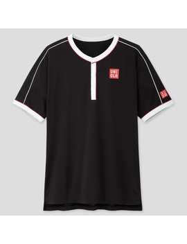Men Dry Ex Polo Shirt (Roger Federer 19 Us) by Uniqlo