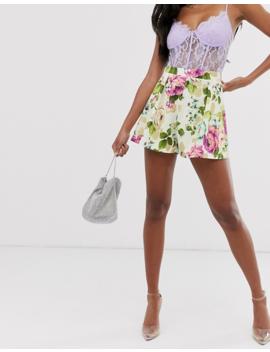 Asos Design Jersey Suit Short In Floral Print by Asos Design