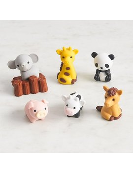 Zoo Animal Erasers by Paper Source