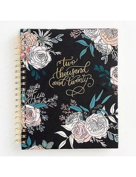 2019 2020 Rose Floral On Black Large Planner by Paper Source