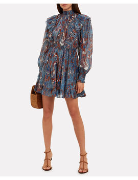 Vienne Birds Of Paradise Mini Dress by Ulla Johnson