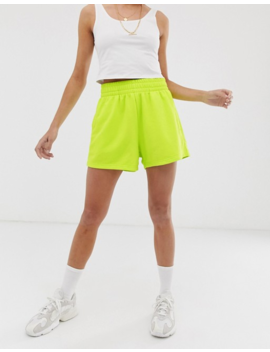 weekday-jersey-shorts-in-neon-yellow by weekday
