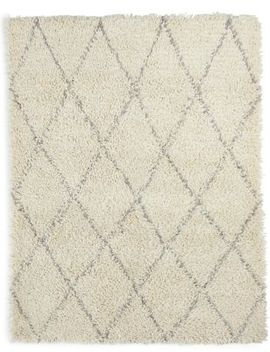 Diamond Shaggy Rug by Marks & Spencer
