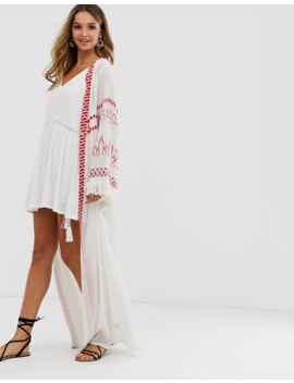 violet-skye-maxi-kimono-jacket-with-fringe-sleeves-and-tassels-in-cream by violet-skye