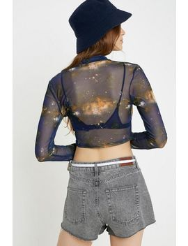 Uo Celestial Sheer Mesh Top by Urban Outfitters