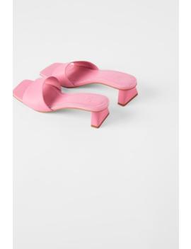 mule-de-salto-médio-de-couro-sandáliassapatos-mulher by zara