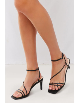 Strappy Kitten Heels by Forever 21