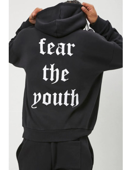 Fear The Youth Graphic Hoodie by Forever 21