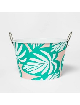 22.8 L Metal Palm Leaf Beverage Tub   Sun Squad by Sun Squad