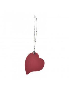 Hermes Togo Epsom Petit H Heart Bag Charm Rubis Orange by Hermes