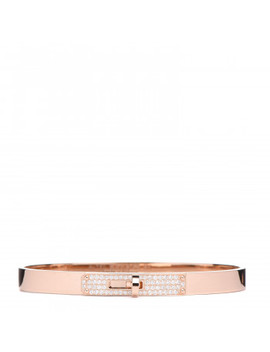 Hermes 18 K Rose Gold Diamond Kelly Pm Bracelet Sh by Hermes