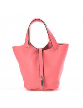 Hermes Taurillon Clemence Picotin Lock 18 Pm Rose Azalee by Hermes