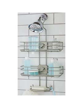 Better Homes & Gardens Adjustable Shower Caddy, Satin Nickel by Better Homes & Gardens