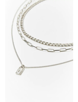 Chain Lock Pendant Necklace Set by Forever 21