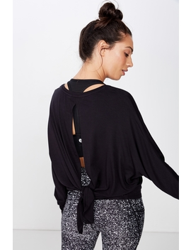 Tie Back Batwing Longsleeve Top by Cotton On