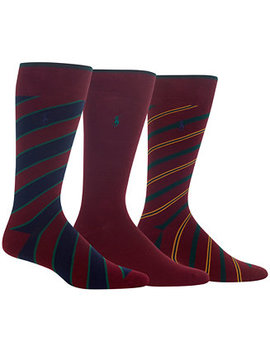 Men's 3 Pk. Striped Socks by General