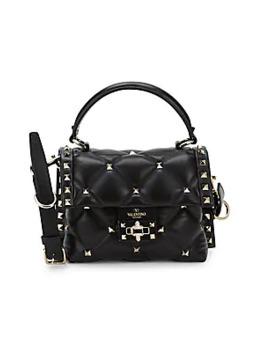 Studded Quilted Leather Shoulder Bag by Valentino Garavani