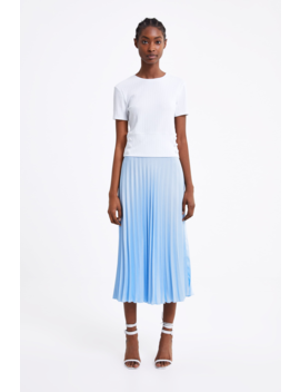 Ribbed Top With Button Details Tshirts Woman by Zara