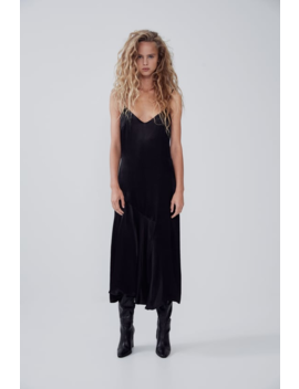 Satin Lingerie Style Dress View All Dresses Woman by Zara
