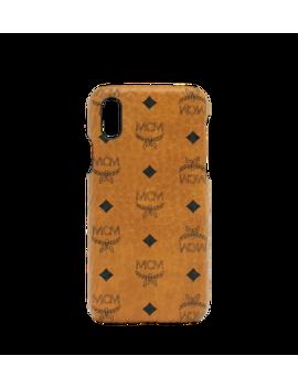 I Phone X Case In Visetos Original by Mcm