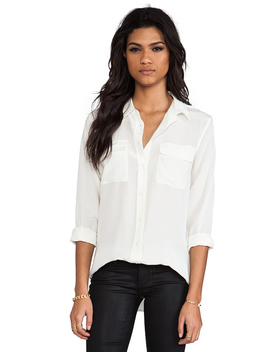Slim Signature Blouse In Nature White by Equipment
