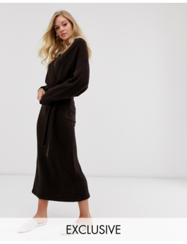 Micha Lounge Luxe Belted Wrap Midi Dress by Micha Lounge