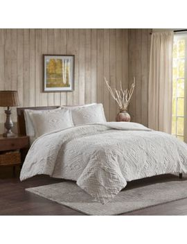 Woolrich® Teton Plush Full/Queen Coverlet Set In Ivory by Bed Bath And Beyond