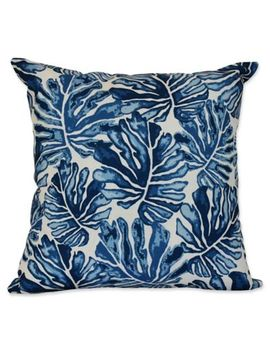 E By Design Palm Leaves Square Throw Pillow by Bed Bath And Beyond