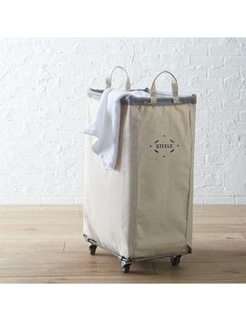 Steele ® Vertical Canvas Laundry Bin by Crate&Barrel