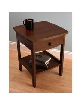 Claire Accent Table Anitque Walnut Finish by Winsome