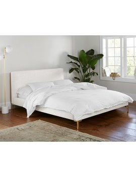 Landy Linen Upholstered Platform Bed by Modern Rustic Interiors