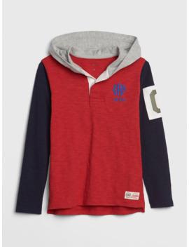 Kids Gap Logo Rugby Hoodie T Shirt by Gap