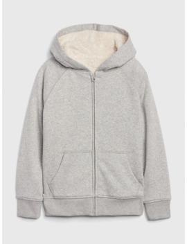 Kids Cozy Lined Hoodie Sweatshirt by Gap
