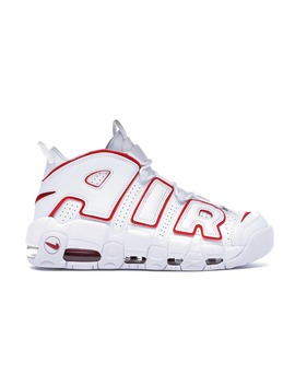 Air More Uptempo White Varsity Red Outline by Stock X