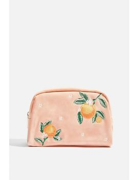 **Orange Blossom Makeup Bag By Skinnydip by Topshop