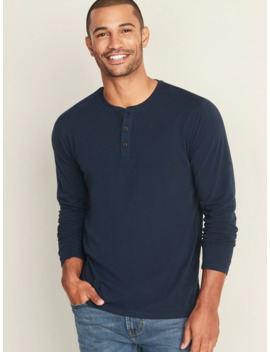 Soft Washed Long Sleeve Henley For Men by Old Navy