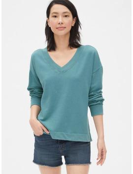 Vintage Soft V Neck Sweatshirt by Gap