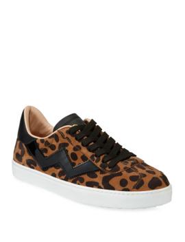 Daryl Low Top Leopard Suede Sneakers by Stuart Weitzman