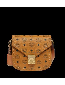 Patricia Shoulder Bag In Studded Outline Visetos by Mcm