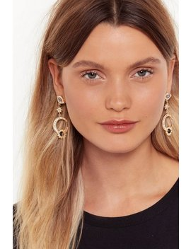 Eyes On The Prize Embellished Drop Earrings by Nasty Gal