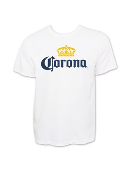 Corona Extra Men's White Beer Logo T Shirt Medium by Corona Extra